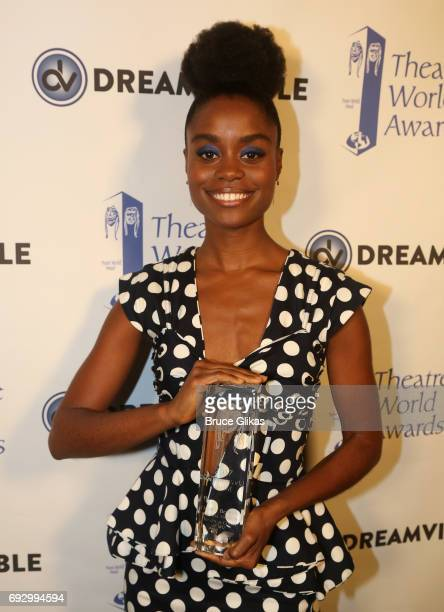 Winner Denee Benton poses at the 2017 Theatre World Awards at The Imperial Theatre on June 5 2017 in New York City