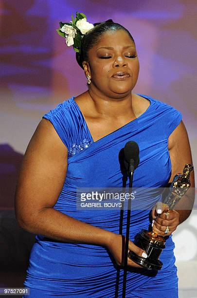 Winner for Actress in a Supporting Role Mo�Nique gives her acceptance speech at the 82nd Academy Awards at the Kodak Theater in Hollywood California...
