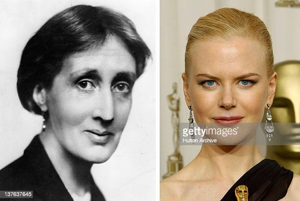 In this composite image a comparison has been made between Virginia Woolf and actress Nicole Kidman Oscar hype continues this week with the...