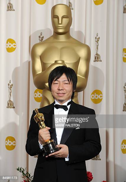 """Winner for Best Animated Short Film Kunio Kato for """"La Maison en Petits Cubes"""" poses at the 81st Academy Awards at the Kodak Theater in Hollywood,..."""