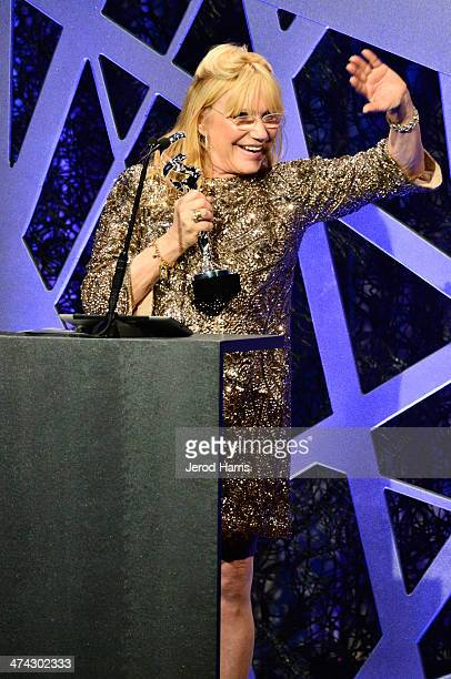 Winner for Best Costume Design for Outstanding Made For Television Movie or MiniSeries for Behind the Candelabra Ellen Mirojnick speaks onstage...