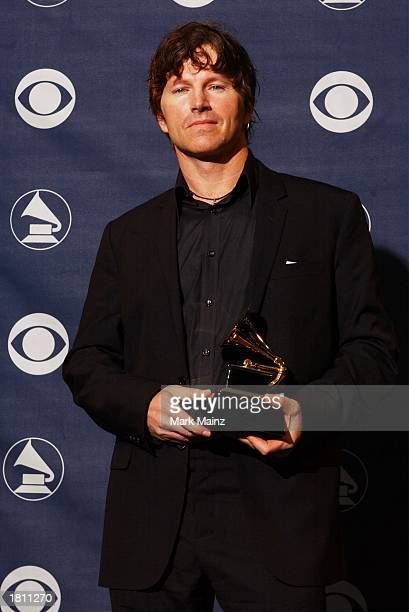 Winner for Best Long Form Music Video for The Clash's Westway to the World video director Don Letts poses backstage at the 45th Annual Grammy Awards...