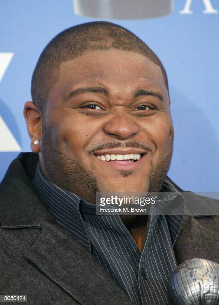 Winner for Best New Artist singer Ruben Studdard poses backstage at the 35th Annual NAACP Image Awards held at the Universal Amphitheatre March 6...