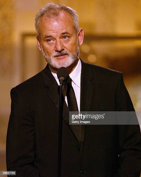Winner for Best Performance by an Actor in a Motion Picture Musical or Comedy Actor Bill Murray on stage at the 61st Annual Golden Globe Awards on...