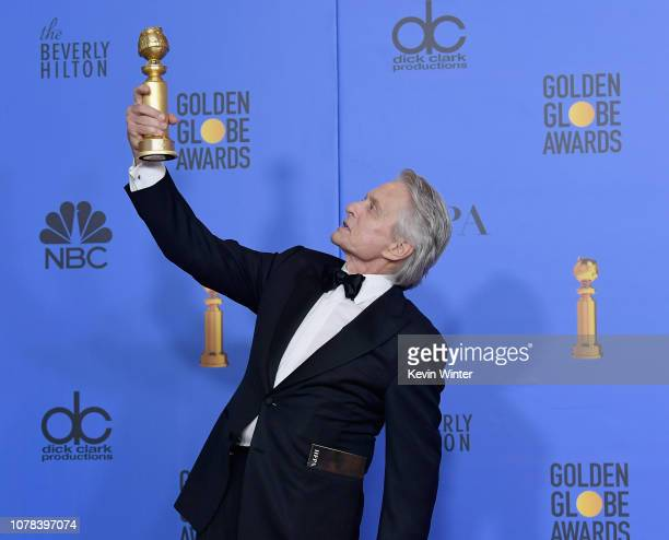 Winner for Best Performance by an Actor in a Television Series Musical or Comedy' The Kominsky Method Michael Douglas poses with the trophy in the...