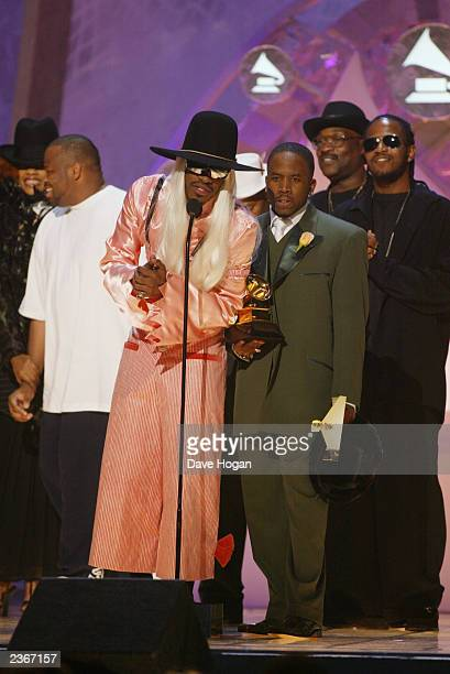 Winner for Best Rap Album for Solo Artists Duos or groups Outkast at the 44th Annual Grammy Awards at the Staples Center in Los Angeles CA 2/27/2002...