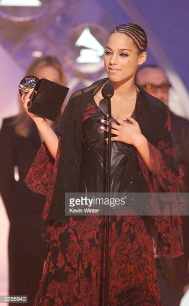 Winner for Best RB Song for 'Fallin'' Alicia Keys at the 44th Annual Grammy Awards held at the Staples Center in Los Angeles Ca Feb 27 2002 Photo by...