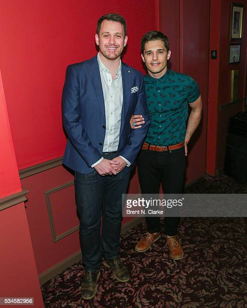 Winner for outstanding director of a musical 'Spring Awakening' Michael Arden and actor Andy Mientus attend the 66th Annual Outer Critics Circle...