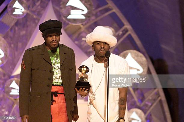 Winner for the Best Comtemporary Best Rap Performance by a Duo or Group Outkast at the 44th Annual Grammy Awards at the Staples Center in Los Angeles...