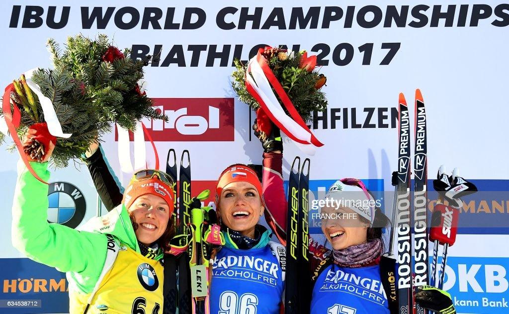 BIATHLON-WORLD-WOMEN-PODIUM : News Photo