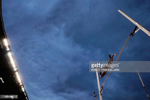 Winner Grece's Katerina Stefanidi competes in the Women's pole vault during the IAAF Diamond League competition on September 6, 2019 in Brussels.