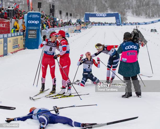 Winner Ingvild Flugstad Ostberg of Norway Astrid Uhrenholdt Jacobsen of Norway Anastasia Sedova of Russia Natalia Nepryaeva of Russia Krista...