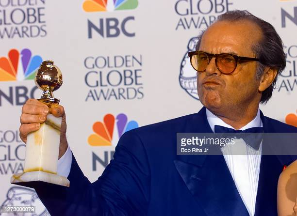 Winner Jack Nicholson backstage at the 55th Annual Golden Globes Awards Show, January 18, 1998 in Beverly Hills, California.