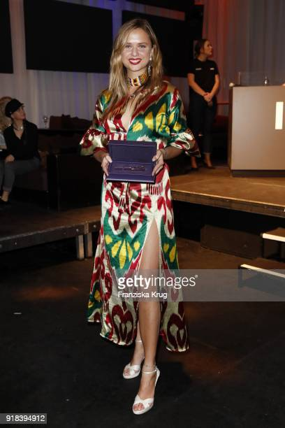 Winner Jeanne de Kroon during the Young ICONs Award in cooperation with ICONIST at SpindlerKlatt on February 14 2018 in Berlin Germany