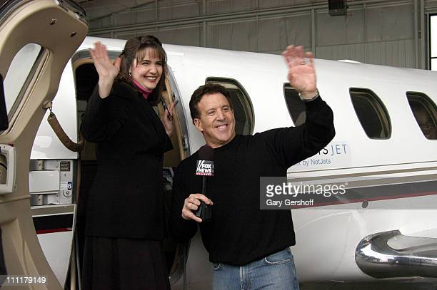 Winner Jennifer Tuttle with Jake Steinfeld during Jake Steinfeld's Live Your Dream Contest Finale February 17 2006 at The Westchester County Airport...