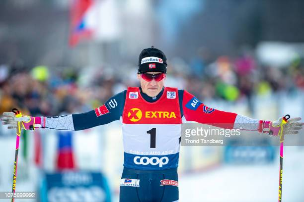 Winner Johannes Hostflot Klaebo of Norway during Tour de Ski Men 13 Sprint Free Qualification on December 29 2018 in Toblach Hochpustertal Italy