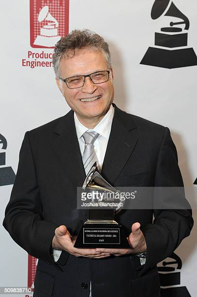 Winner Jules Limon attends the Technical GRAMMY Ceremony for The 58th GRAMMY Awards at The GRAMMY Museum on February 12 2016 in Los Angeles California