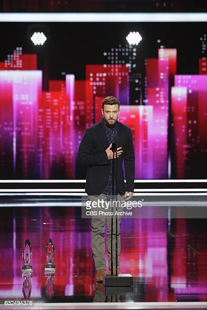 Winner, Justin Timberlake during the PEOPLE'S CHOICE AWARDS 2017, the only major awards show where fans determine the nominees and winners across...