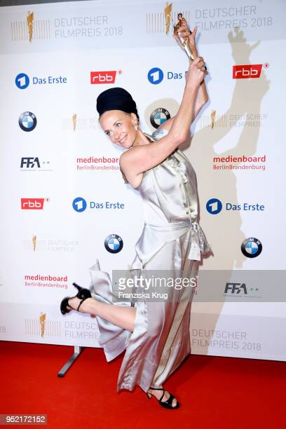 Winner Katja Riemann during the Lola German Film Award winners board at Messe Berlin on April 27 2018 in Berlin Germany