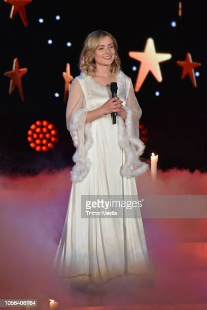 Winner Marie Wegener performs the taping of the MDR TV show 'Weihnachten bei uns' at Stadthalle on November 6, 2018 in Zwickau, Germany. The show...