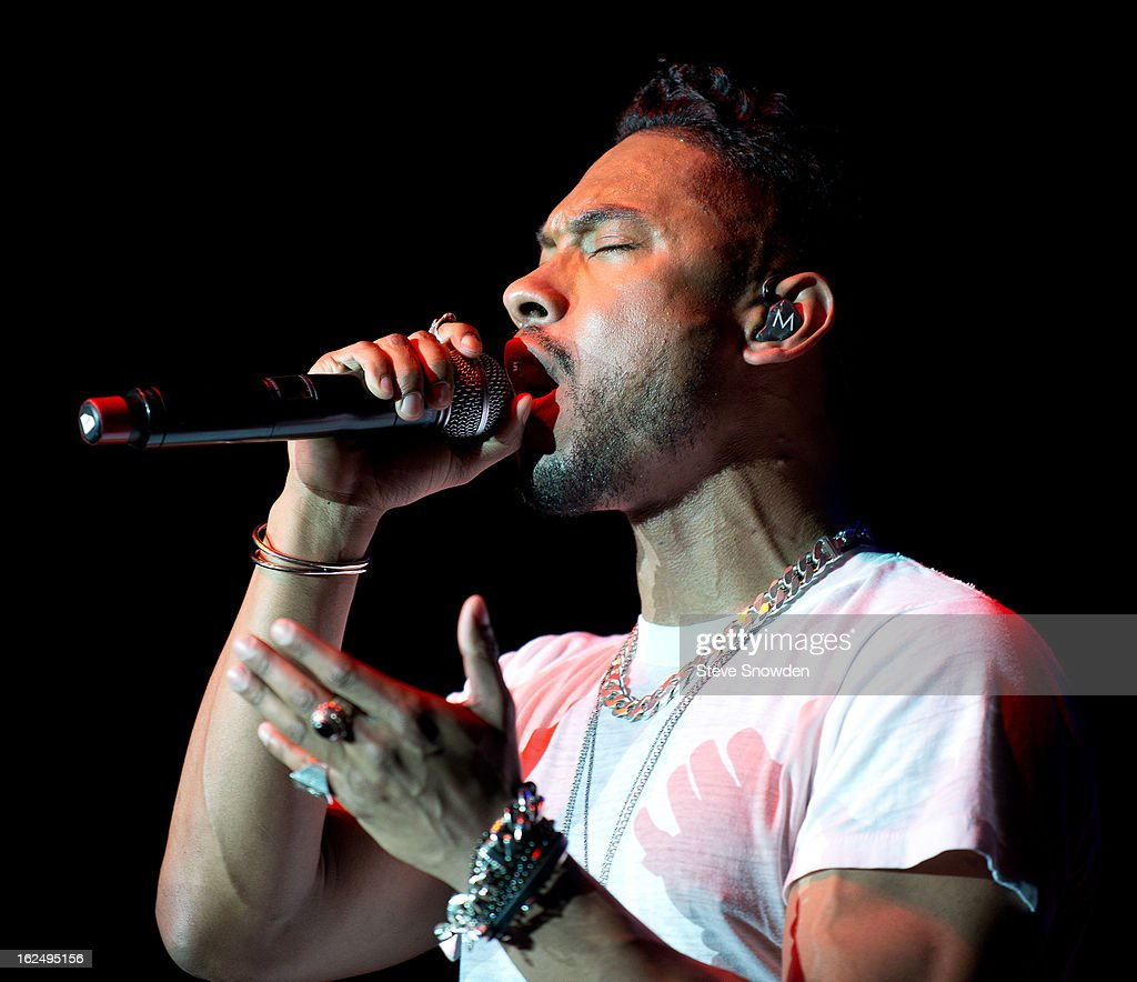 GRAMMY winner Miguel performs at Route 66 Casino's Legends Theater on FEBRUARY 23, 2013 in Albuquerque, New Mexico.