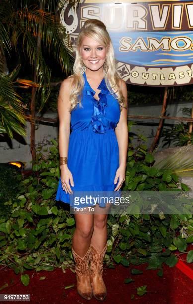 Winner Natalie White attends Survivor Samoa Season 19 Finale at CBS Studios on December 20 2009 in Los Angeles California