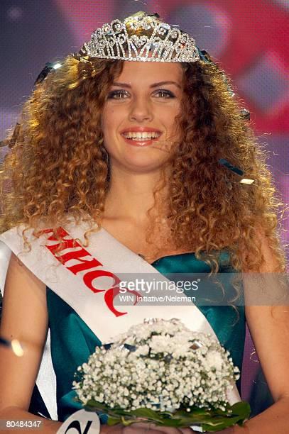 winner of beauty contest, portrait - sjerp stockfoto's en -beelden