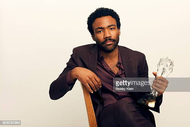 Winner of Best Actor in a Comedy Series for 'Atlanta' Donald Glover poses for a portrait during the 2016 Critics Choice Awards on December 11 2016 in...
