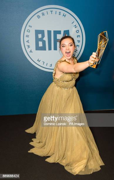 Winner of Best Actress Florence Pugh at the British Independent Film Awards at Old Billingsgate in London