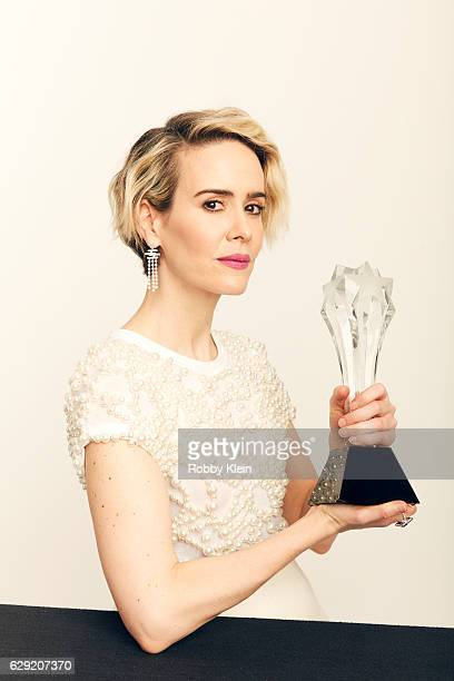 Winner of Best Actress in a Movie Made for Television or Limited Series for The People v OJ Simpson Sarah Paulson poses for a portrait during the...