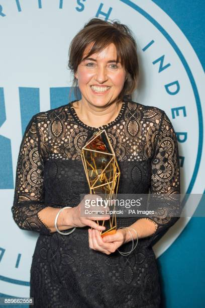 Winner of Best British Documentary Carol Salter at the British Independent Film Awards at Old Billingsgate in London