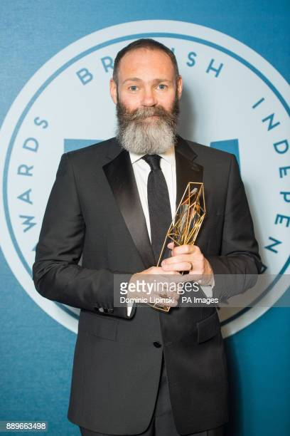 Winner of Best Debut Screenwriter Francis Lee at the British Independent Film Awards at Old Billingsgate in London