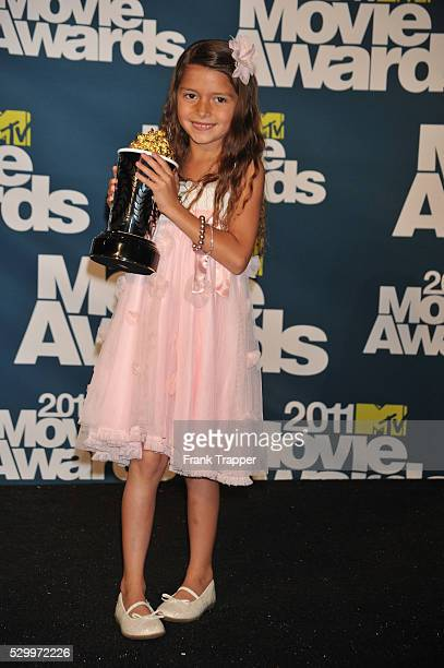 Winner of Best Line From A Movie Alexys Nycole Sanchez posing in the press room at the 2011 MTV Movie Awards held at Universal Studios' Gibson...