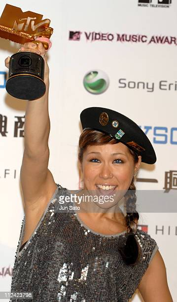 AI winner of Best RB Video during MTV Video Music Awards Japan 2007 Press Room at Saitama Super Arena in Saitama Japan