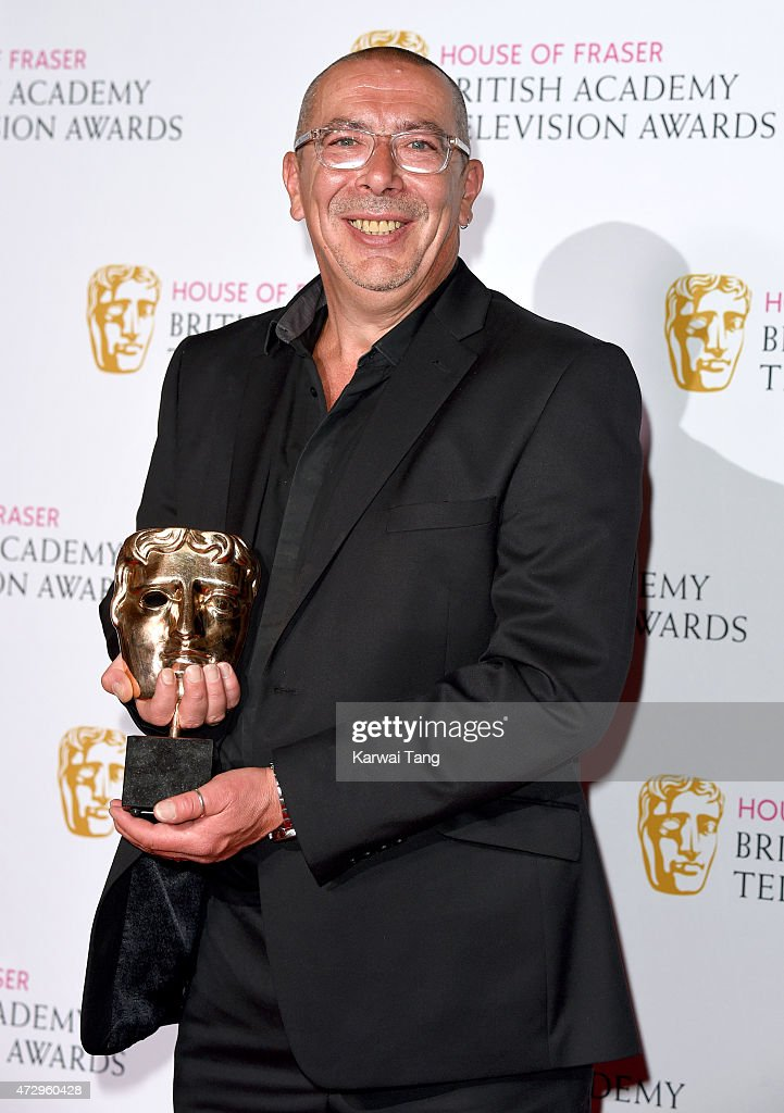 Winner of Best Soap and Continuing Drama, Coronation Street's Stuart Blackburn poses in the winners room at the House of Fraser British Academy Television Awards at Theatre Royal on May 10, 2015 in London, England.