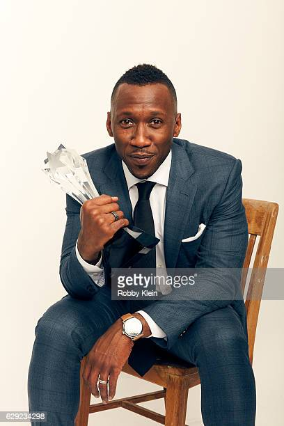 Winner of Best Supporting Actor for Moonlight Mahershala Ali poses for a portrait during the 2016 Critics Choice Awards on December 11 2016 in Santa...
