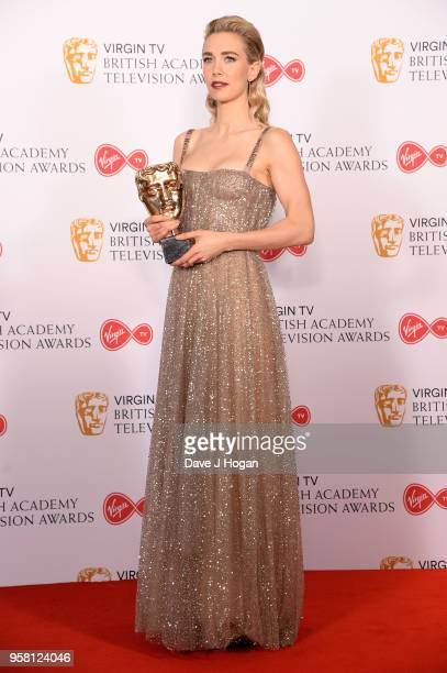 Winner of Best Supporting Actress for 'The Crown' Vanessa Kirby poses in the press room at the Virgin TV British Academy Television Awards at The...