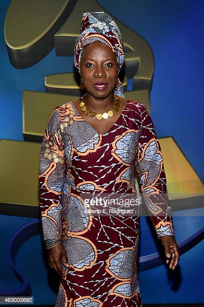 Winner of Best World Music Album Angelique Kidjo at the Premiere Ceremony during The 57th Annual GRAMMY Awards at Nokia Theatre LA LIVE on February 8...