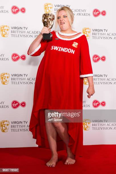 Winner of Female in a Comedy for 'This Country' Daisy May Cooper poses in the press room at the Virgin TV British Academy Television Awards at The...