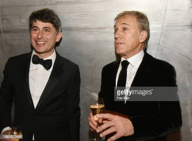 Winner of GQ's 2018 Special Award actor Christoph Waltz and guest attend GQ Men Of The Year Awards 2018 at Centre Pompidou on November 26 2018 in...