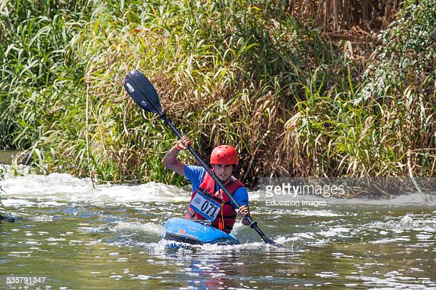 Winner of Men's Youth classification: Zaha Wolfe. The 1st annual LA River Boat Race held on August 30, 2014 on a course along a stretch of the river...