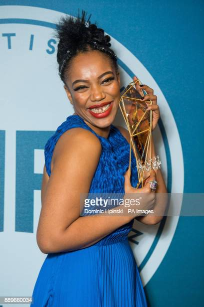 Winner of Most Promising Newcomer award Naomi Ackie at The British Independent Film Awards at Old Billingsgate in London
