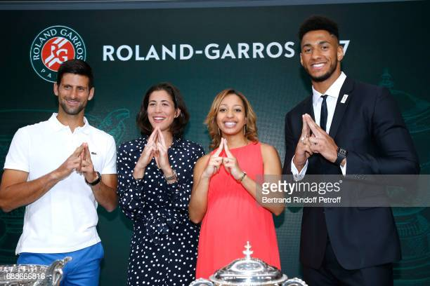 Winner of Roland Garros 2016 Novak Djokovic Spanish Winner of Roland Garros 2016 Garbine Muguruza Ambassadors of Olympic Games of Paris 2024 and...
