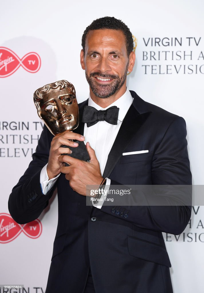 Winner of Single Documentary for 'Rio Ferdinand: Being Mum and Dad', Rio Ferdinand poses in the press room during the Virgin TV British Academy Television Awards at The Royal Festival Hall on May 13, 2018 in London, England.