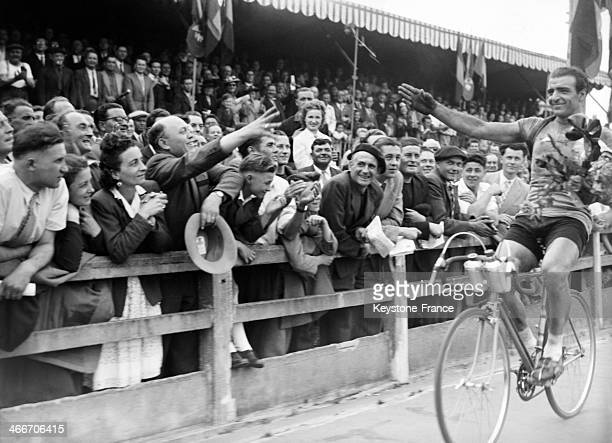 Winner of the 3rd stage of the Tour de France 1949 in July 1949 in Nantes France