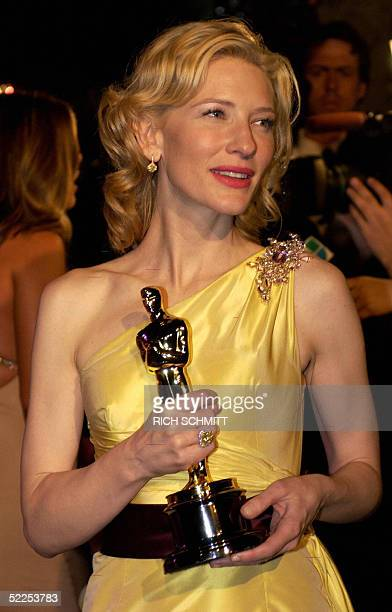"""Winner of the Academy Award for Best Supporting Actress, Cate Blanchett starring in """"The Aviator"""" arrives at the Vanity Fair Dinner and Post Party..."""