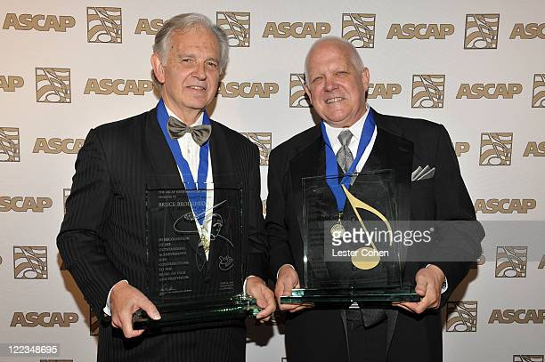 Winner of the ASCAP Henry Mancini Career Achievement Award Bruce Broughton and Winner of the ASCAP Golden Note Award Dennis McCarthy arrive at the...