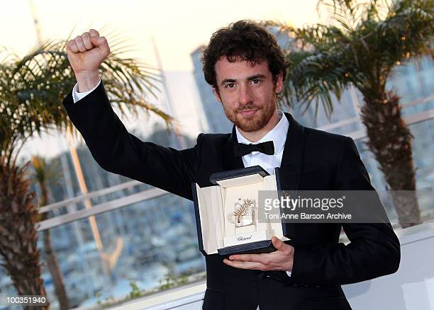 Winner of the award for Best Actor Elio Germano attends the Palme d'Or Award Ceremony Photo Call held at the Palais des Festivals during the 63rd...