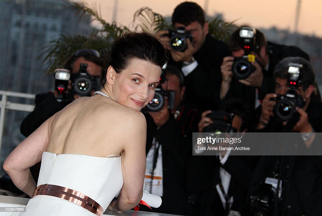 Winner of the award for Best Actress Juliette Binoche attends the Palme d'Or Award Ceremony Photo Call held at the Palais des Festivals during the 63rd Annual International Cannes Film Festival on May 23, 2010 in Cannes, France.