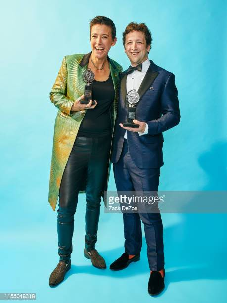 Winner of the award for Scenic Design for Hadestown Rachel Hauck and Bradley King pose for a portrait during the 73rd Annual Tony Awards on June 09...